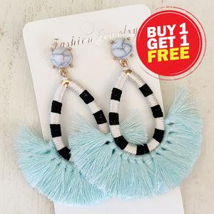 BOGO! Light Blue Tassel Earrings